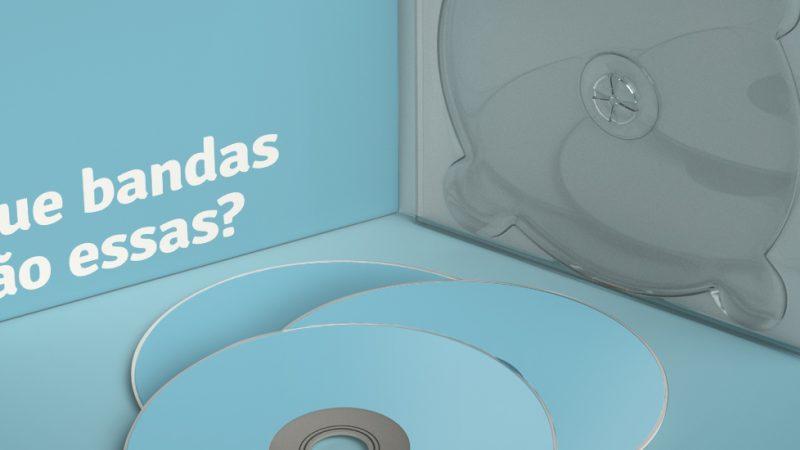 imagem da capa de cd com mais 3 CDs do lado de fora, empilhados